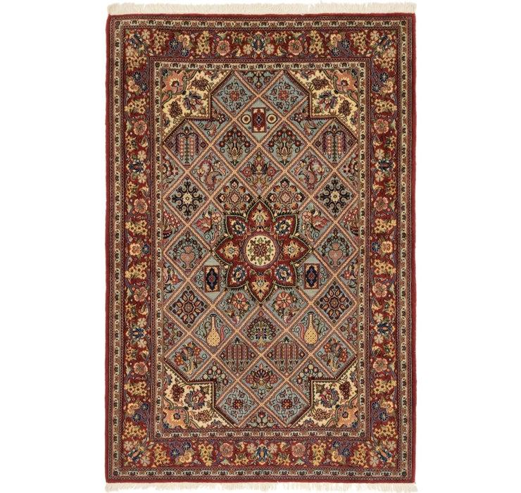 4' 3 x 6' 5 Qom Persian Rug
