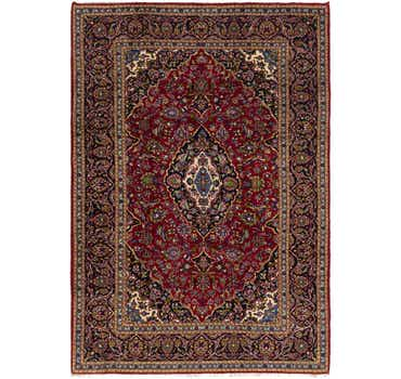 Image of  7' 10 x 11' 4 Kashan Persian Rug