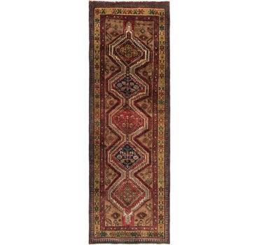 3' 9 x 10' Meshkin Persian Runner Rug main image