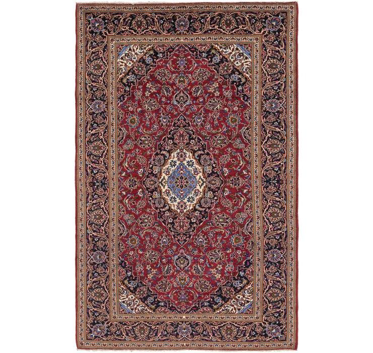 6' 9 x 11' Kashan Persian Rug