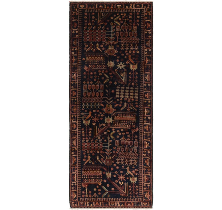 3' 7 x 9' 5 Roodbar Persian Runner ...