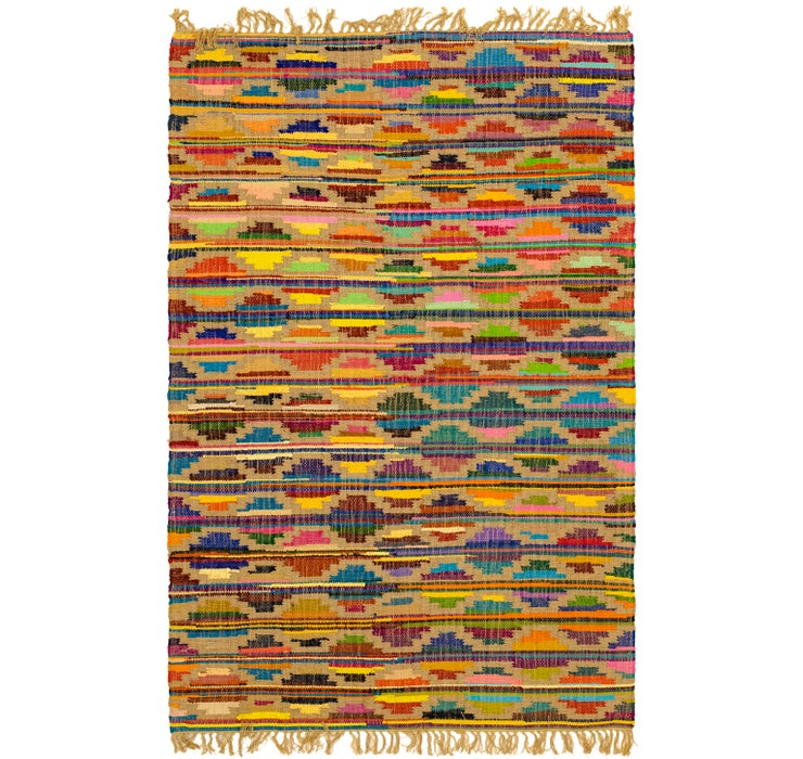 5' 1 x 7' 10 Chindi Cotton Rug