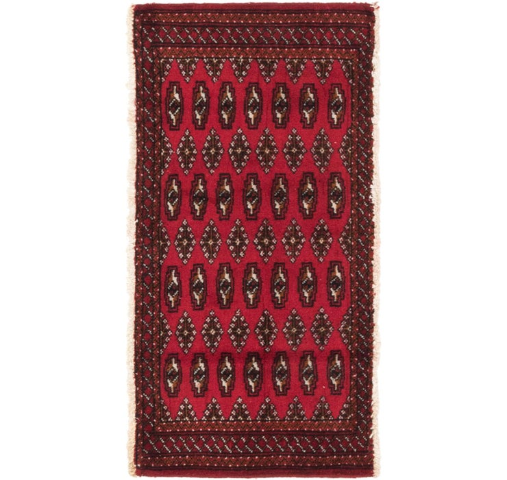 55cm x 115cm Torkaman Persian Rug