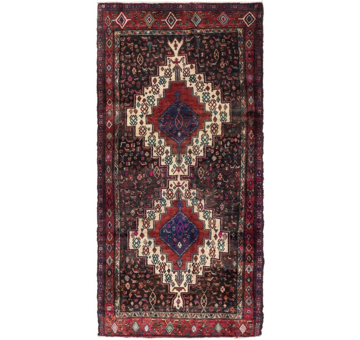 Image of 130cm x 262cm Senneh Persian Runner Rug
