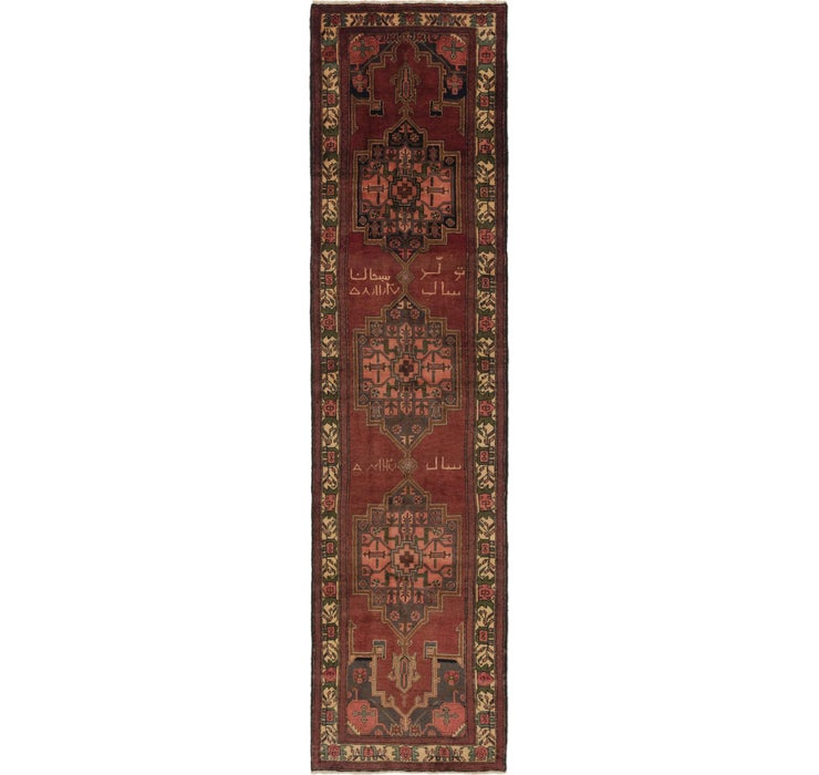 102cm x 405cm Saveh Persian Runner Rug