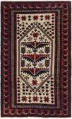 3' 9 x 6' 3 Balouch Persian Rug thumbnail
