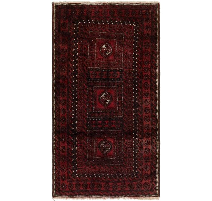 102cm x 190cm Balouch Persian Rug