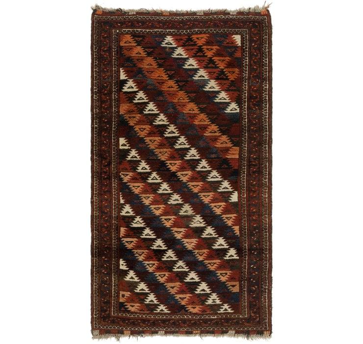 102cm x 183cm Balouch Persian Rug