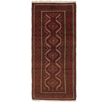3' 6 x 8' 8 Balouch Persian Runner Rug main image