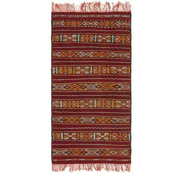 3' 7 x 7' 8 Moroccan Runner Rug