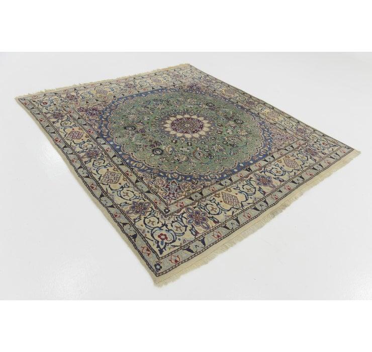 6' 5 x 6' 8 Nain Persian Square Rug