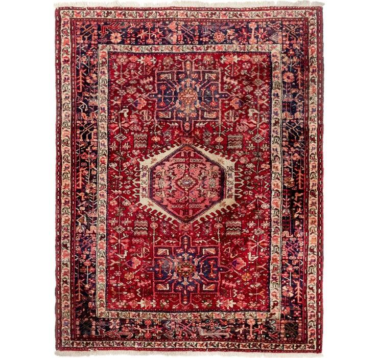 5' x 6' 5 Gharajeh Persian Rug