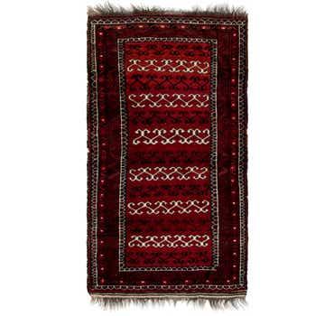 Image of 2' 8 x 5' 6 Afghan Akhche Rug