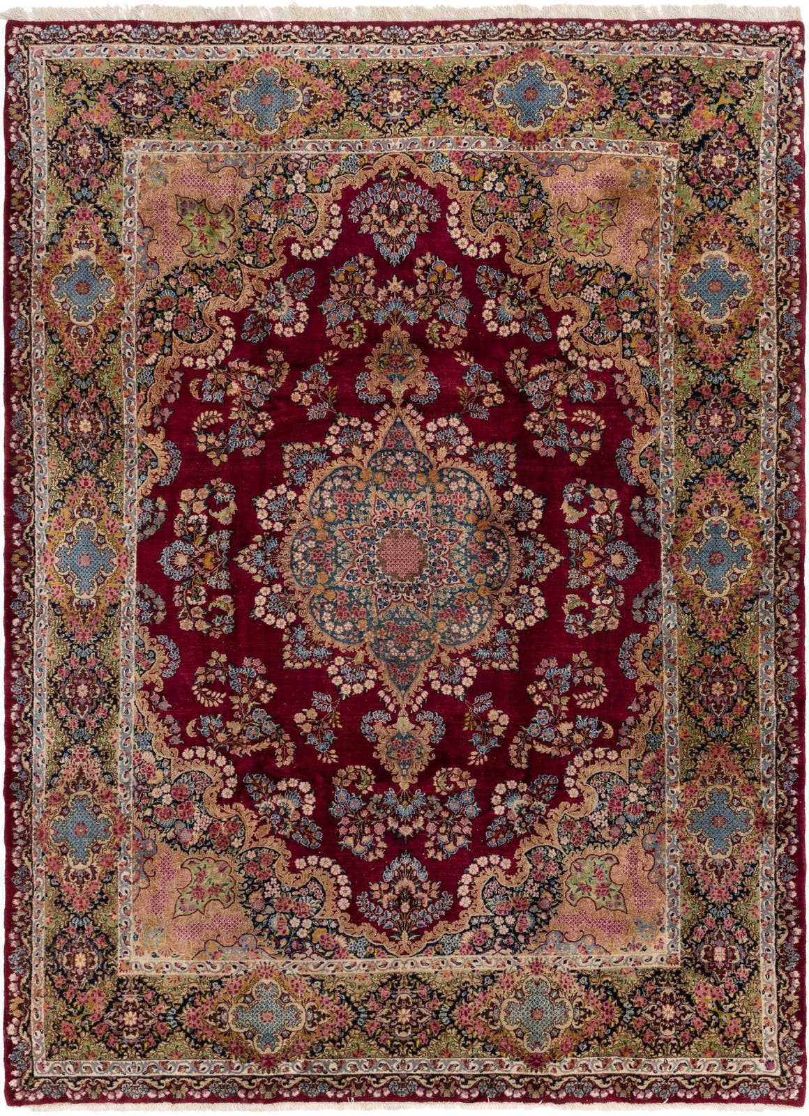 8' 10 x 11' 10 Kerman Persian Rug main image