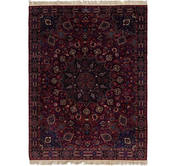 275cm x 385cm Mashad Persian Rug