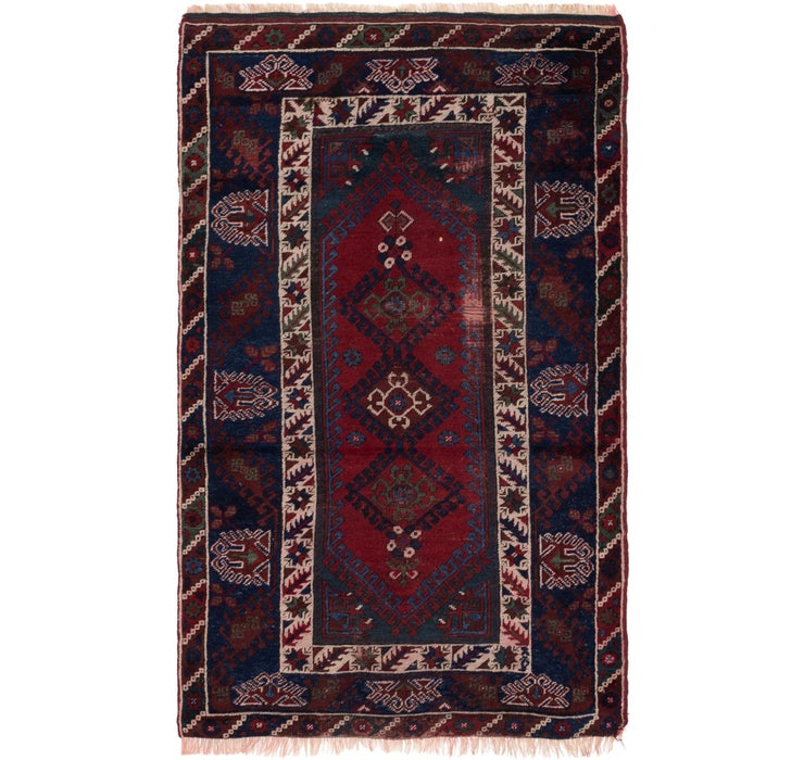 3' 7 x 5' 9 Anatolian Oriental Rug