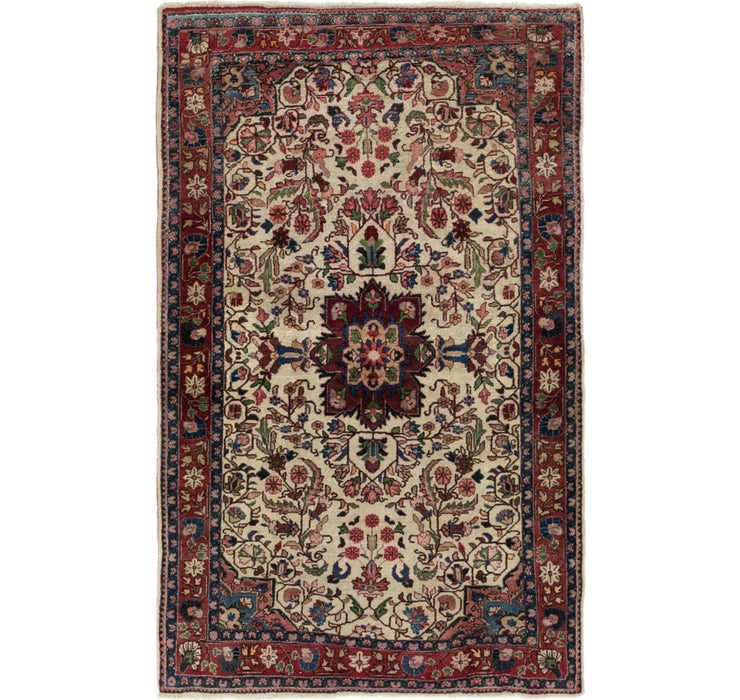 3' 4 x 5' 3 Sarough Persian Rug