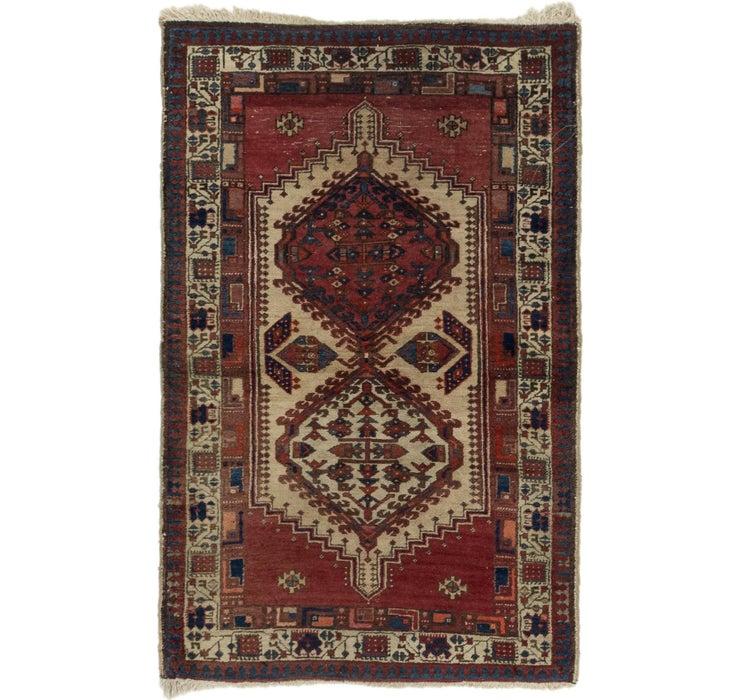 3' 2 x 4' 10 Hamedan Persian Rug