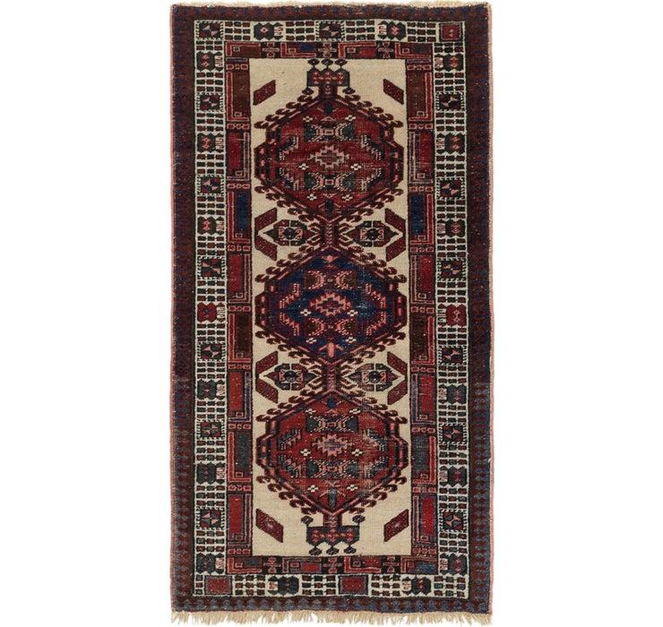 90cm x 163cm Meshkin Persian Rug