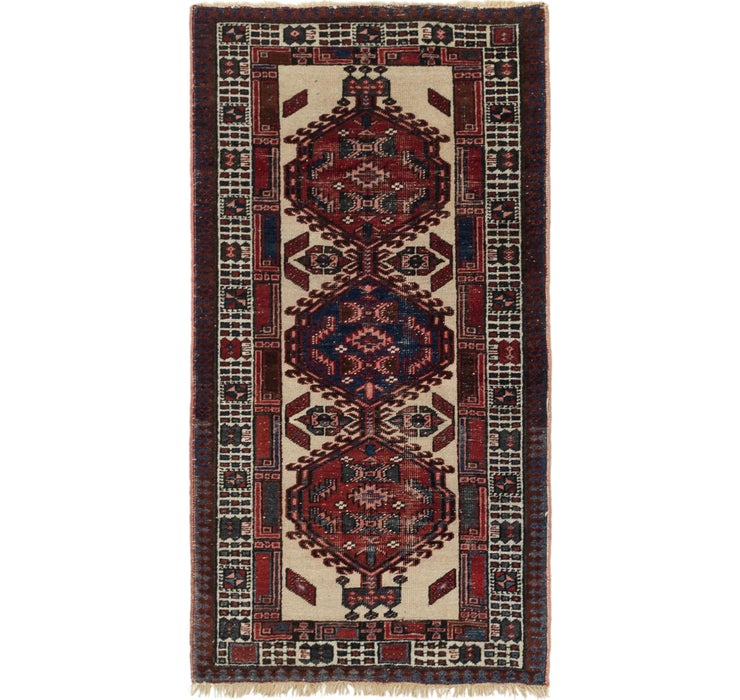 3' x 5' 4 Meshkin Persian Rug