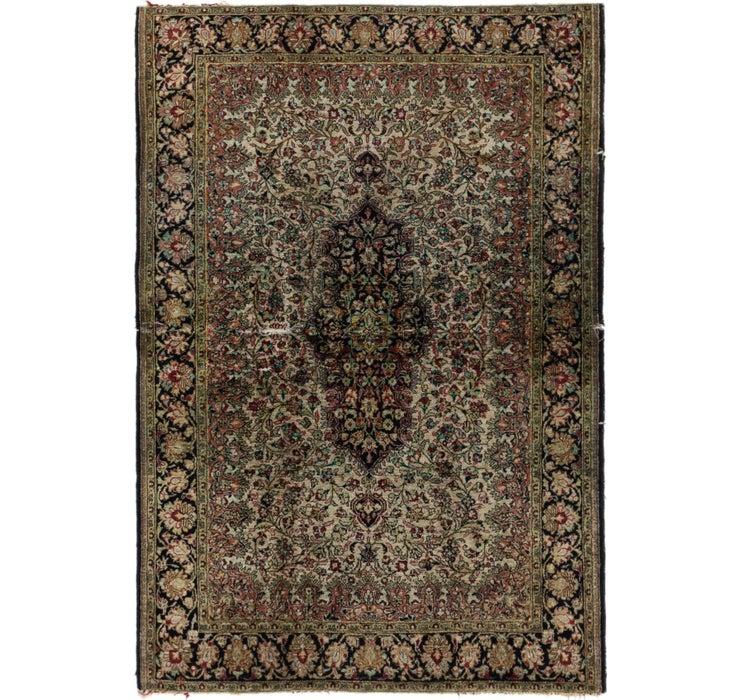 Image of 110cm x 157cm Qom Persian Rug