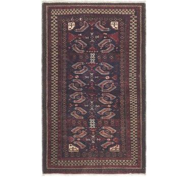 3' 3 x 5' 6 Balouch Persian Rug main image