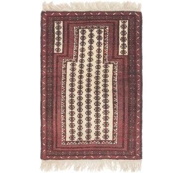 3' x 4' 10 Balouch Persian Rug main image