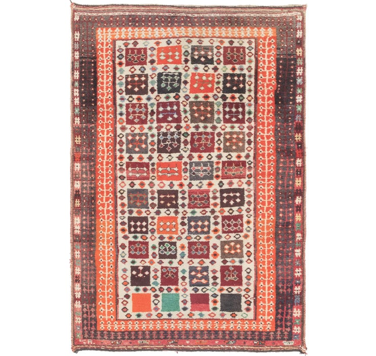 Image of 4' x 6' Shiraz-Gabbeh Persian Rug