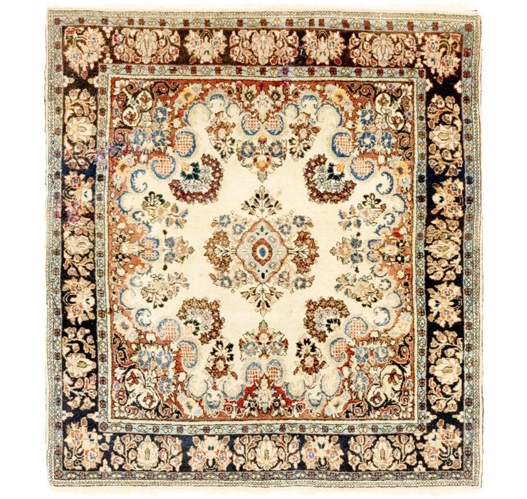 4' x 4' 6 Bidjar Persian Square Rug