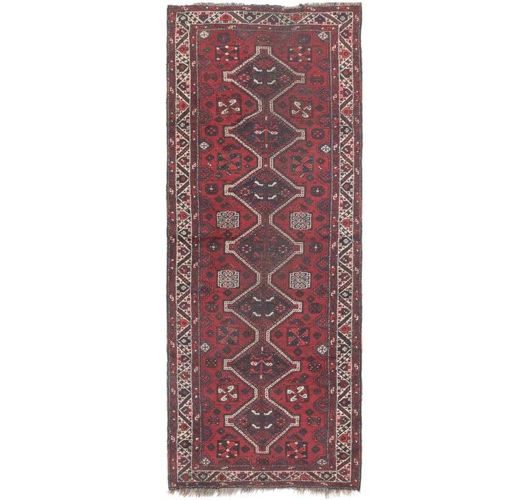 3' 9 x 10' Shiraz Persian Runner Rug