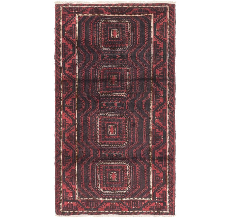 127cm x 235cm Balouch Persian Rug