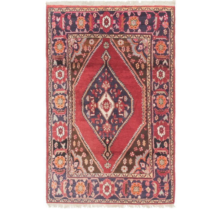 132cm x 208cm Hamedan Persian Rug