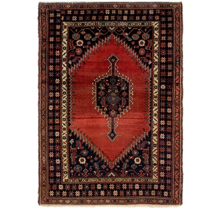 137cm x 198cm Mazlaghan Persian Rug