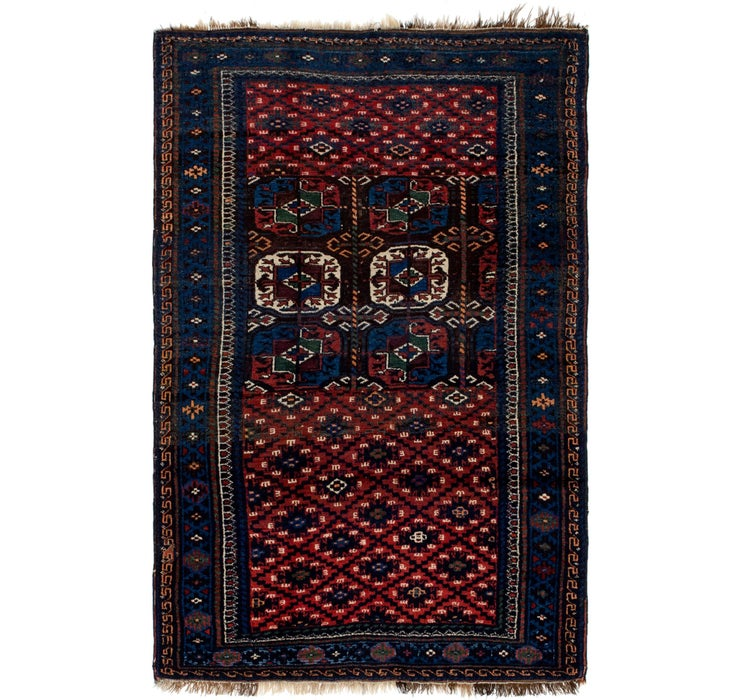 4' x 6' 2 Shiraz Persian Rug