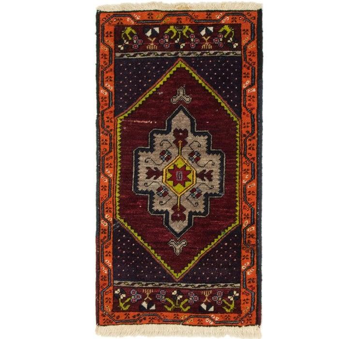 1' 8 x 3' 2 Anatolian Rug