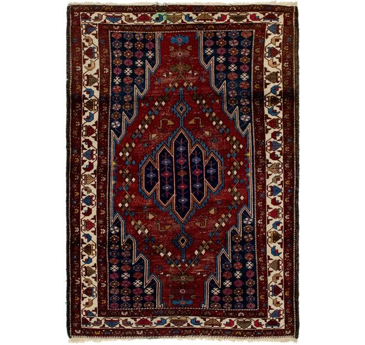 127cm x 193cm Mazlaghan Persian Rug