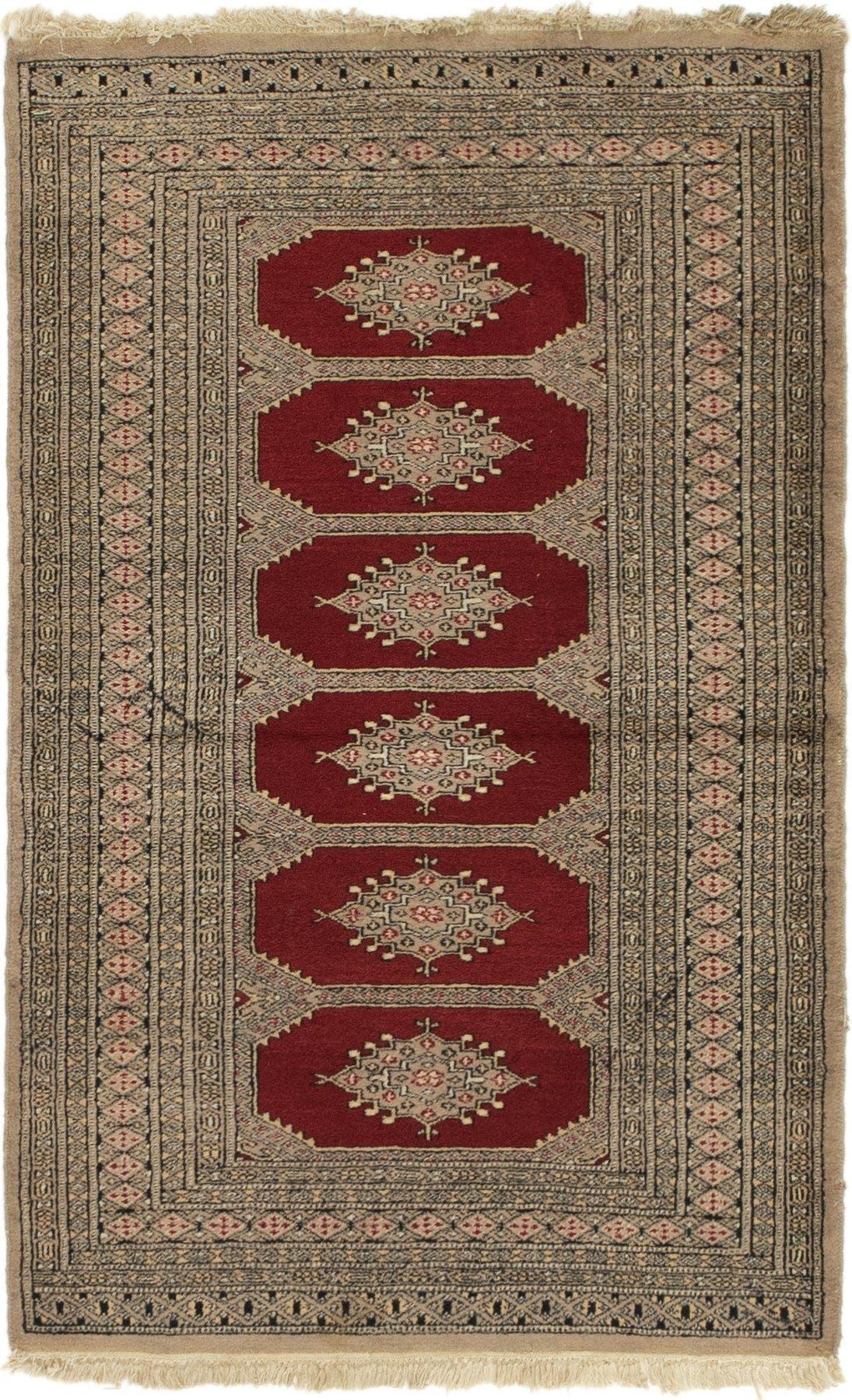 Red 3 X 5 Bokhara Persian Rug