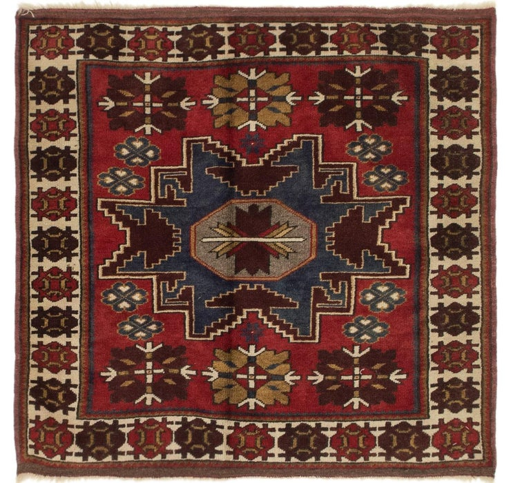 3' 7 x 3' 7 Anatolian Oriental Squa...