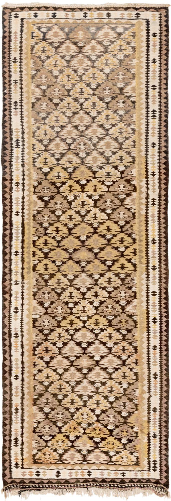 3' 3 x 9' 7 Kilim Fars Runner Rug main image