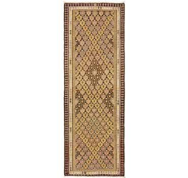3' 7 x 10' 6 Kilim Fars Runner Rug