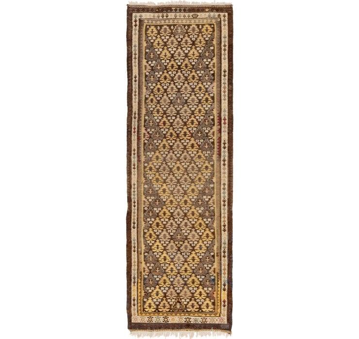 3' x 9' 8 Kilim Fars Runner Rug