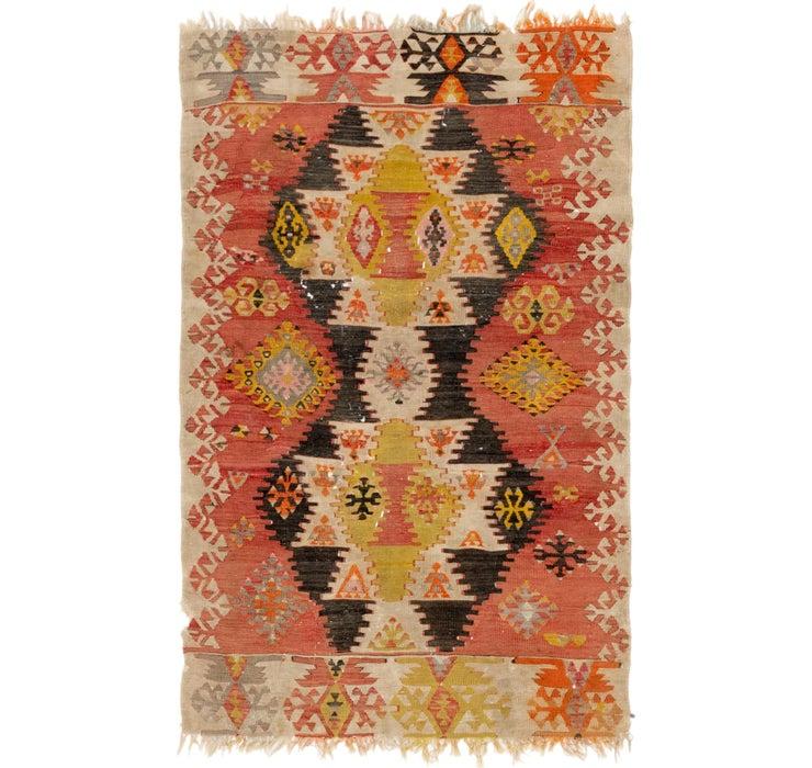 Image of 3' 5 x 5' 5 Kilim Rag Rug