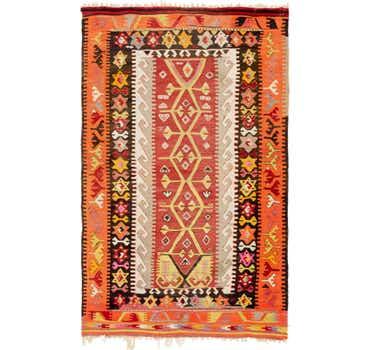 Image of 3' 10 x 6' Kilim Rag Rug
