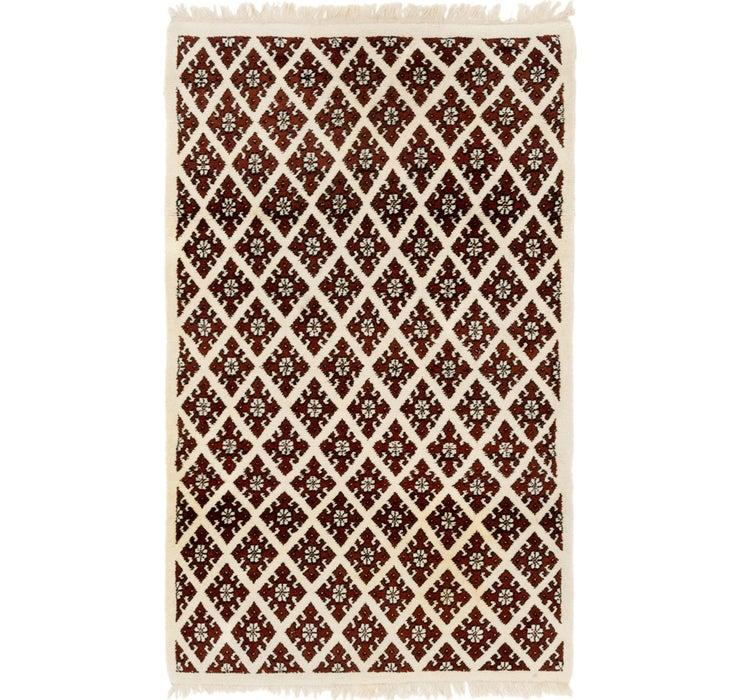 4' 2 x 6' 10 Moroccan Rug