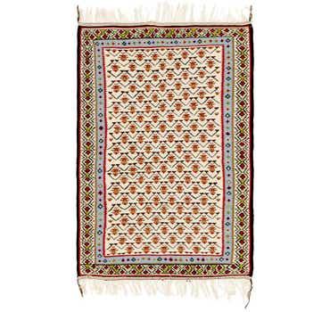 Image of 3' 5 x 5' Kilim Fars Rug