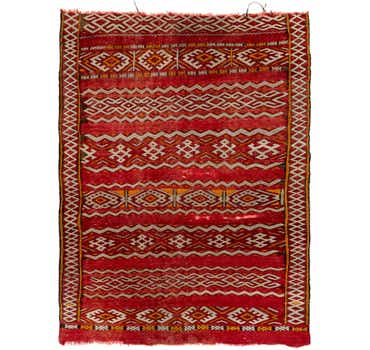 Image of 4' 8 x 6' 5 Moroccan Rug
