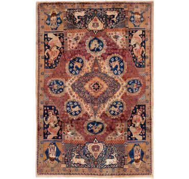 Image of 6' 7 x 9' 9 Kashmar Persian Rug