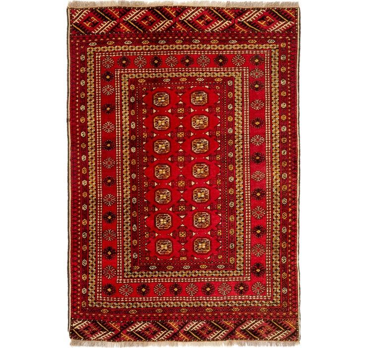 127cm x 188cm Afghan Akhche Rug