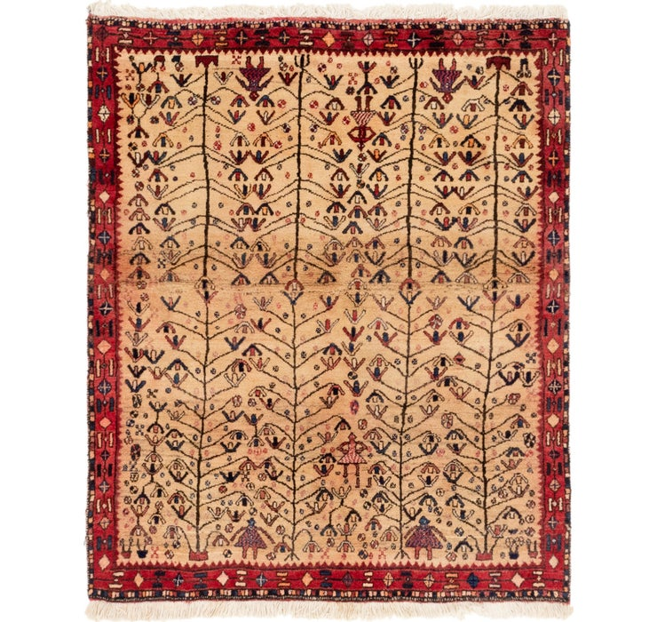 4' 3 x 5' Shiraz Persian Rug