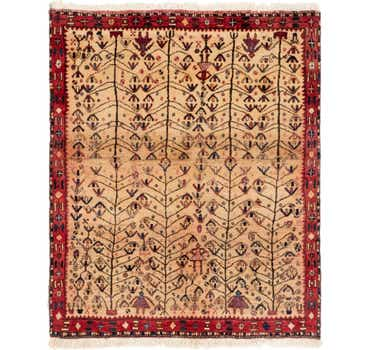 Image of 4' 3 x 5' Shiraz Persian Rug